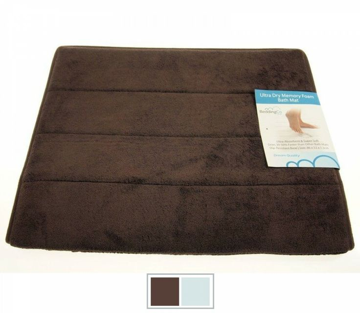 Step onto soft smooth comfort with the BeddingCo Visco Memory Foam bath mat from $39.00 available at http://www.beddingco.com.au/visco-memory-foam-bath-mat.html