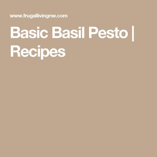 Basic Basil Pesto | Recipes