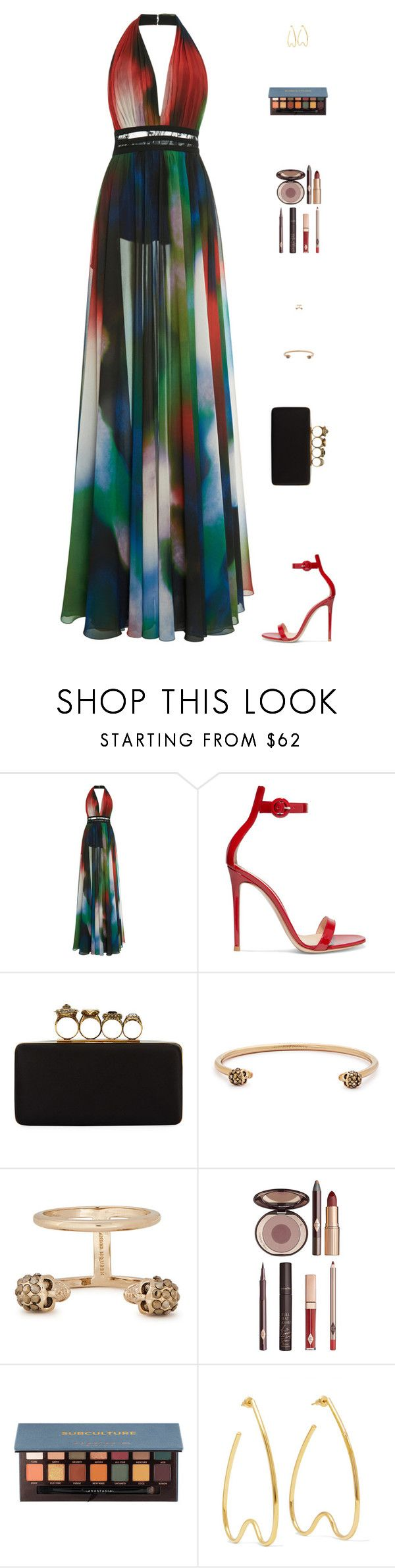 """""""MC"""" by mdmsb on Polyvore featuring Elie Saab, Gianvito Rossi, Alexander McQueen, Charlotte Tilbury, Anastasia Beverly Hills and Simone Rocha"""