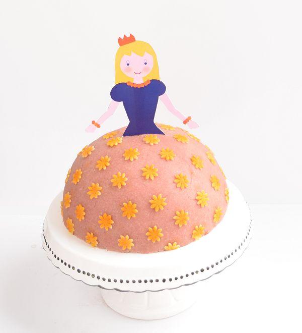 Τούρτα Πριγκίπισσα χωρίς ζάχαρη, χωρίς βούτυρο, χωρίς χρωστικές και χωρίς λευκό αλεύρι !!