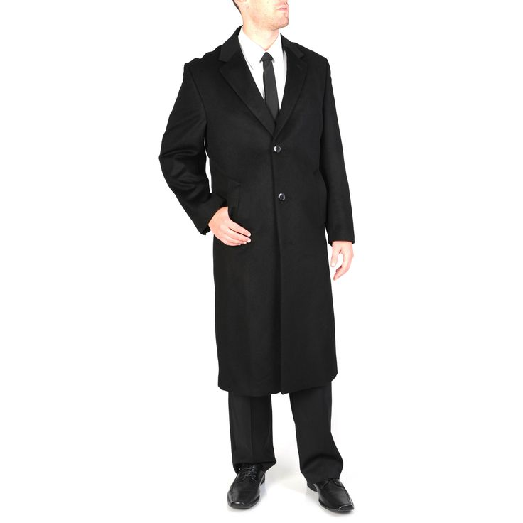 Pronto Moda Men's 'Harvard' Wool-cashmere Full-length Coat