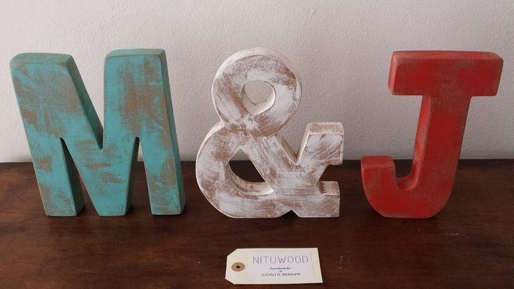 Letra+madera+vintage+de+NITUWOOD+por+DaWanda.com