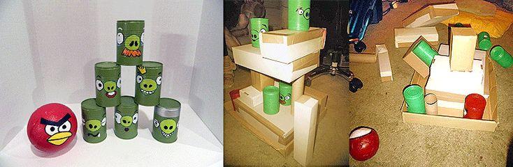 Haz tu juego de angry birds con material reciclado  Make your own
