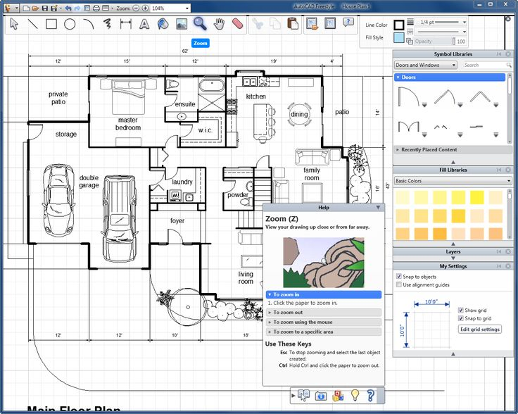 Free Cad House Layout House And Home Design