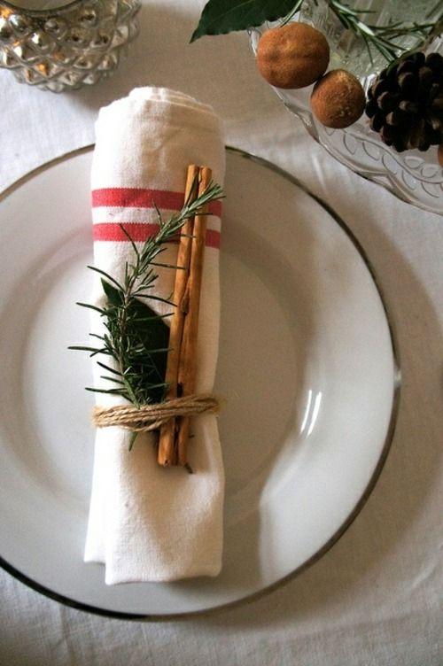 idée de déco d'assiette de Noël