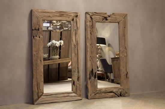 spiegels Spiegel van rustiek oud teakhout