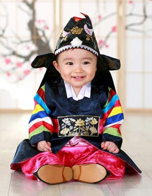 Korean tradition--first birthday costume