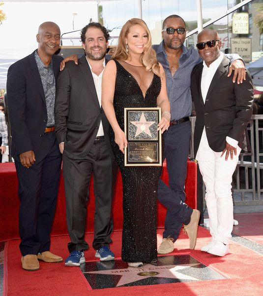 Mariah Carey Photos - Singer Mariah Carey (C), with President of Programming, BET, Stephen Hill, directors/producers Brett Ratner and Lee Daniels and Chairman and CEO, Epic Records, L.A. Reid, is honored with Star on The Hollywood Walk of Fame on August 5, 2015 in Hollywood, California. - Mariah Carey Honored With Star on the Hollywood Walk of Fame