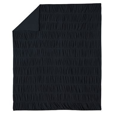 ruched duvet cover sham black pbteen