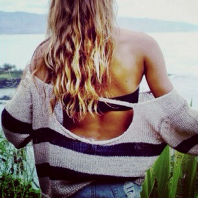 Beach sweater: At The Beaches, Beaches Hair, Outfits, Fashion, Dreams Closet, Summer Day, Clothing, Cozy Sweaters, Beaches Style