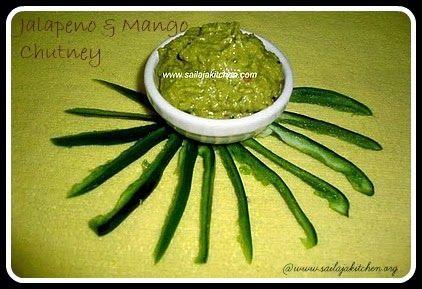 image of Jalapeno & Raw Mango Chutney /Thogayal