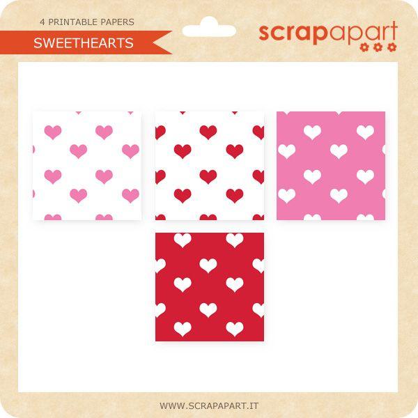 Sweethearts Paper Pack - Gratuito, gratis, free! : Costruisci la tua scorta di carte per scrapbooking da stampare ... totalmente gratis!