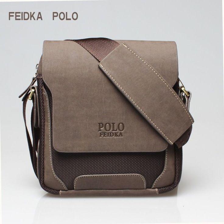 Men's Leather Shoulder Bag Travel Bag POLO...