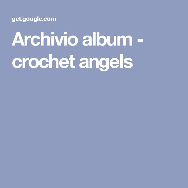 Archivio album - crochet angels