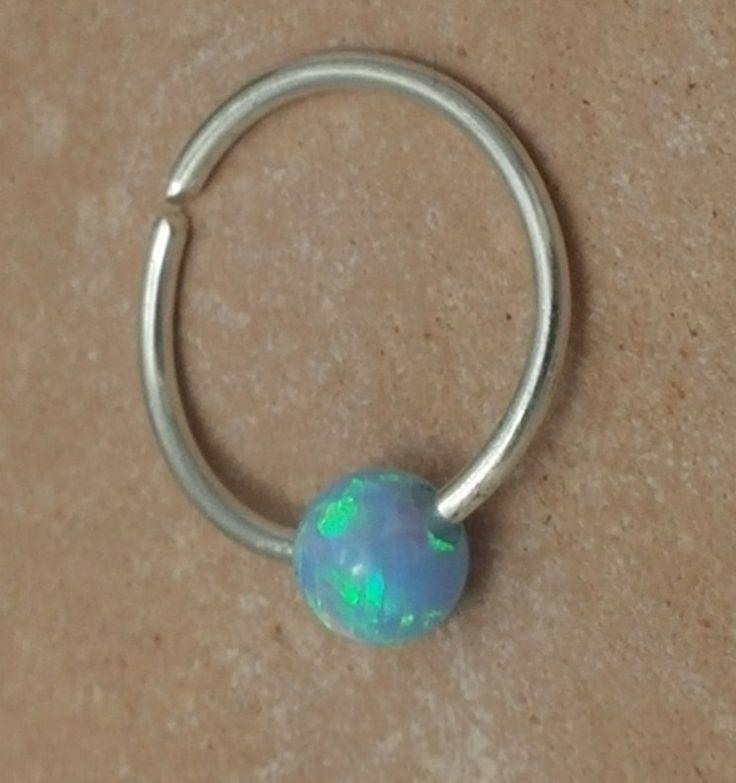 nose ring,septum,,nose hoop,cartilage hoop,opal nose ring,opal nose hoop,nose piercing ring,goldfilled nose ring,tiny hoop nose ring, hoop by opaljewells on Etsy