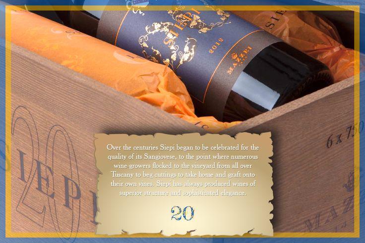 Con il passare dei secoli Siepi è diventato famoso per la qualità del suo Sangiovese, al punto che numerosi viticoltori vi giungevano da tutta la Toscana per chiedere tralci di vite da vini con una struttura superiore e di raffinata eleganza. #Siepi20 @marchesimazzei #mazzei #fonterutoli  #tuscany #wine