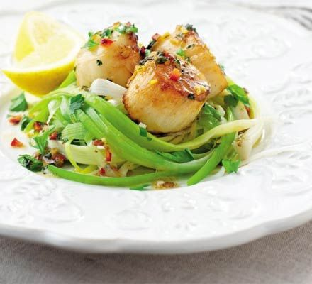 Scallops love a bit of lemon and chilli plus, they are ready in a flash. The perfect way to impress last-minute guests