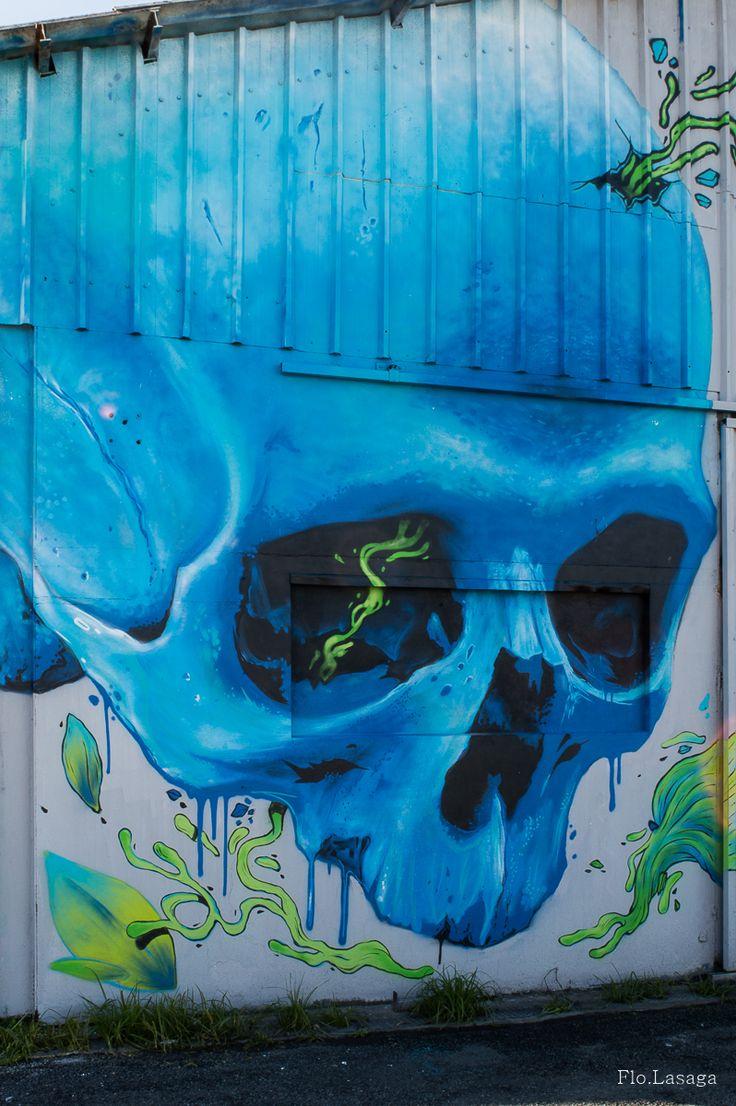 Graffiti à Biarritz, Côte Basque
