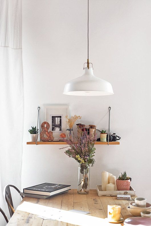 Ikea Pendant Lamp Over Wood Dining Table Via Apartment Therapy Sfgirlbybay