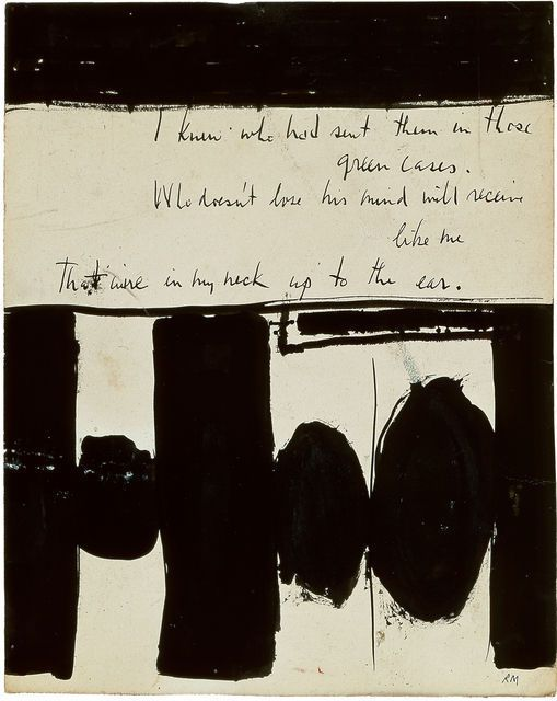 Robert Motherwell, Elegy to the Spanish Republic No. 1 (1948), via Artsy.net