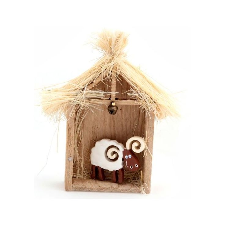 Lamb in Wooden Shed Magnet