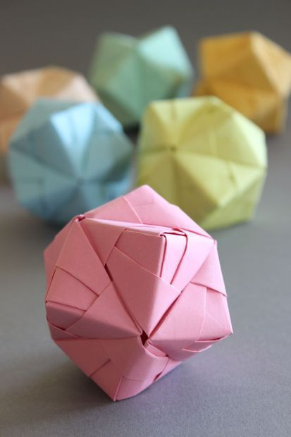 Picture of DIY Origami Ball Sonobe Style in pastell