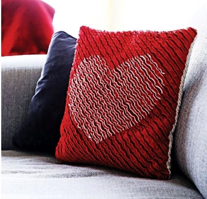 Looking for your next project? You're going to love Chenille Heart Pillow by…