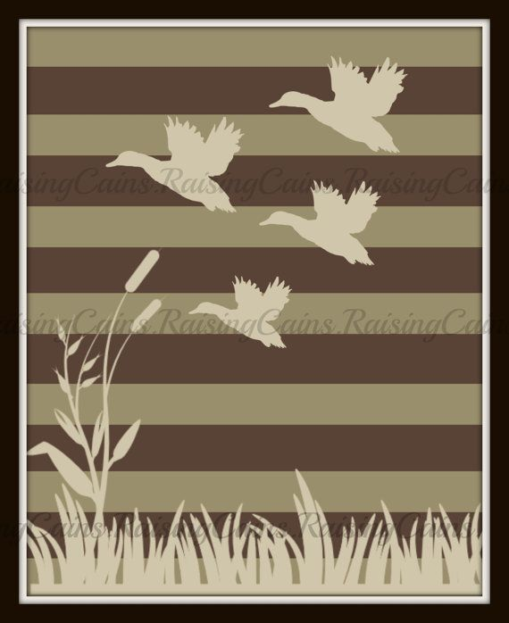 Duck Hunting Wall art Hunting themed Nursery by Raising3Cains