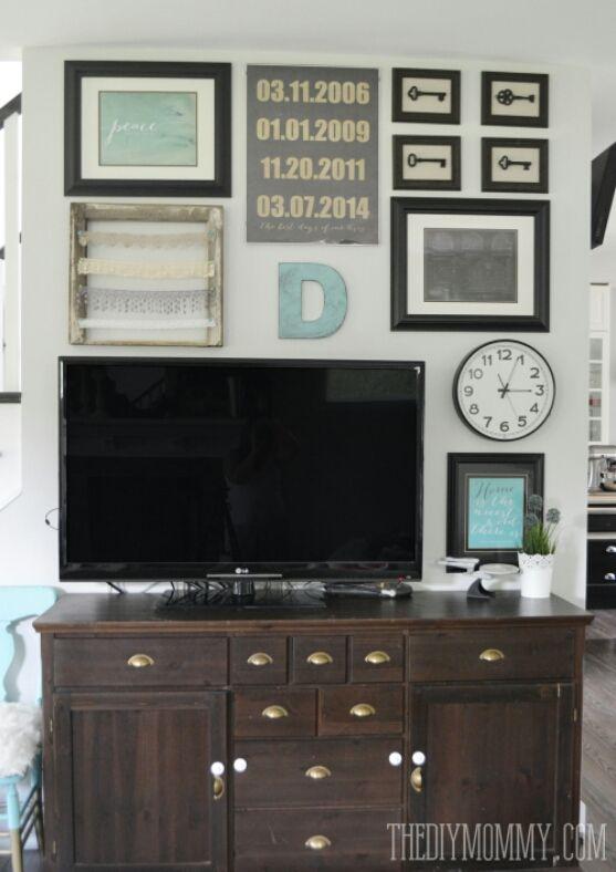 i think the black frames help balance the tv despite the light walls as a