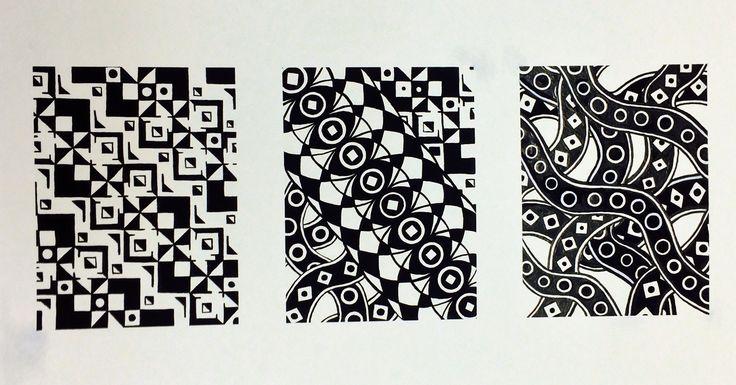Rhythm assignment 2D gouache 24x18 2014 t.johnsen