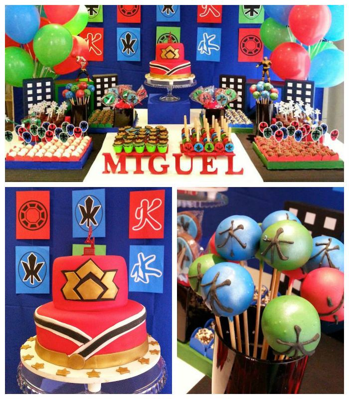 Power Rangers Samurai Birthday Party via Kara's Party Ideas KarasPartyIdeas.com Cake, supplies, decor, favors, food, and more! #powerrangers #powerrangersparty #samuraiparty (1)