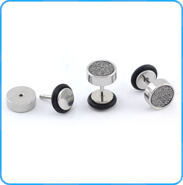 ES02082 Surgical fashion dance club boys fake plugs wholesale fashion men earrings jewelry