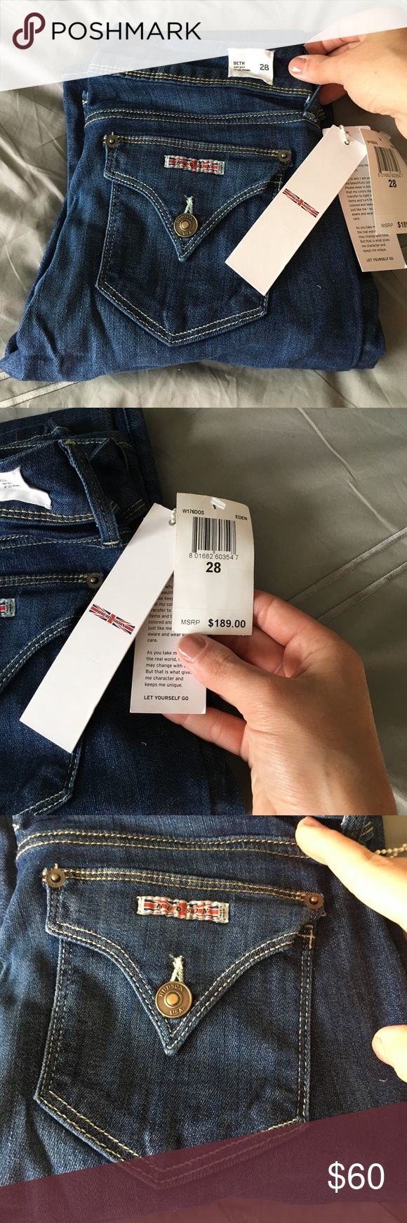 Hudson Jeans size 28 Beth boot cut NWT Hudson brand Jeans-Beth baby bootcut size 28. Double button front closure with back flap pockets. Hudson Jeans Jeans Boot Cut