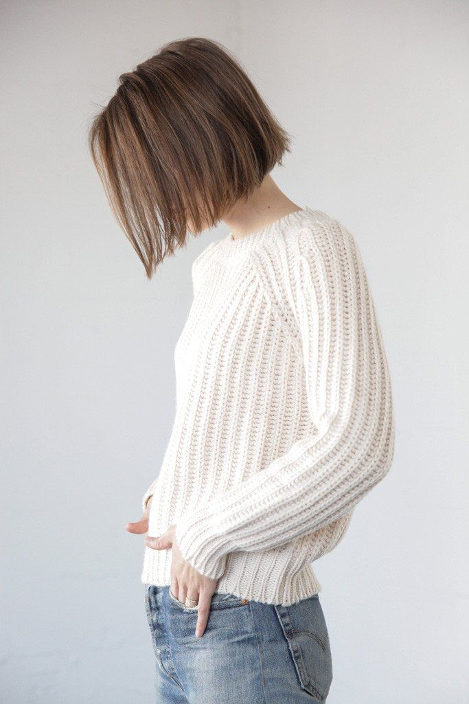 Objects Without Meaning - Rib Sweater in Oat