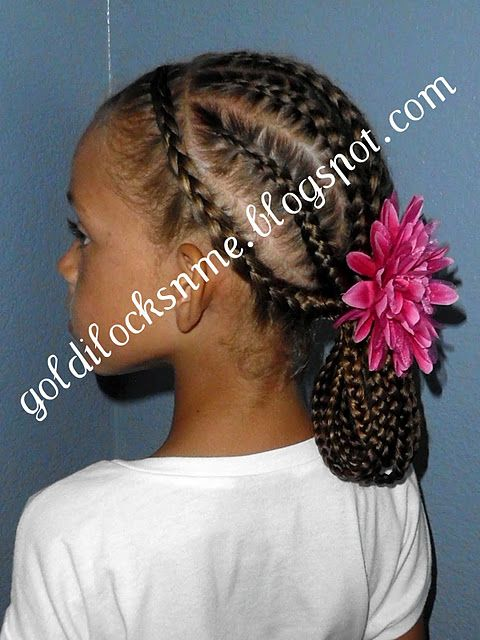 CUTE HAIRSTYLE FOR LITTLE GIRL / PLATS HAIR  / HAIR BOWS / LITTLE GIRL HAIRSTYLE…