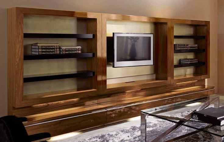 Mueble TV Moderno Share Material: Madera de Palisandro Existe la posibilidad de realizar el mueble en diferente color de acabado, ver imagen de galeria... Eur:4977 / $6619.41