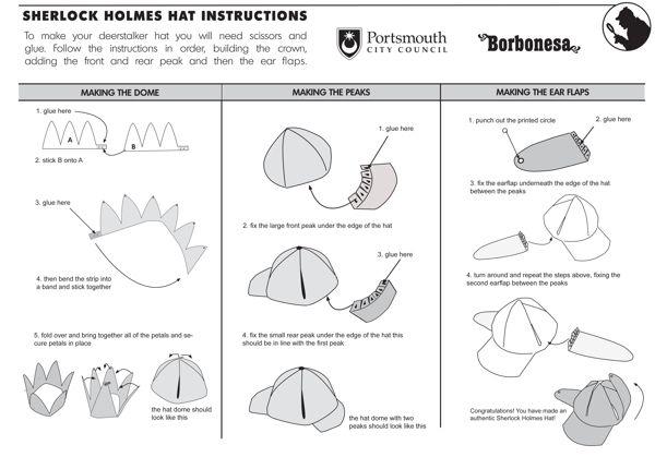 how to make a sherlock holmes hat for detective badge sh pinterest deerstalker hat hat. Black Bedroom Furniture Sets. Home Design Ideas