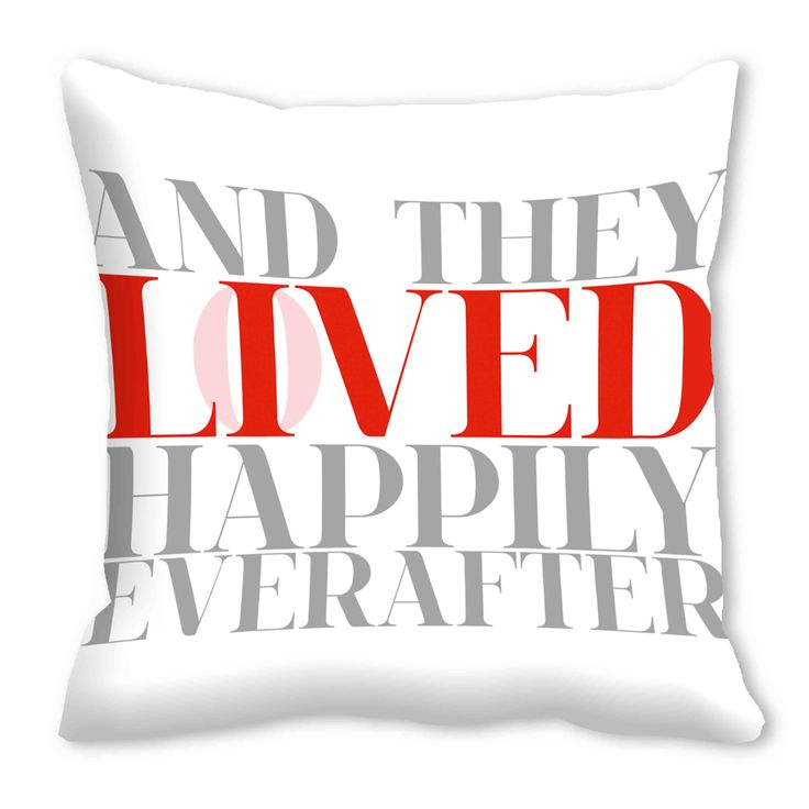Digital Cushion Cover, Saying 'Lo(I)Ved Happily Ever After (16x16)  #cushions #cushioncovers #pinit #pinterset #shazliving #interior #homedecor Shop at: https://www.shazliving.com/