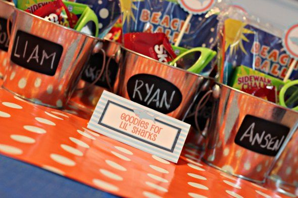 Shark Birthday Party Goody Bags Party Planning Ideas