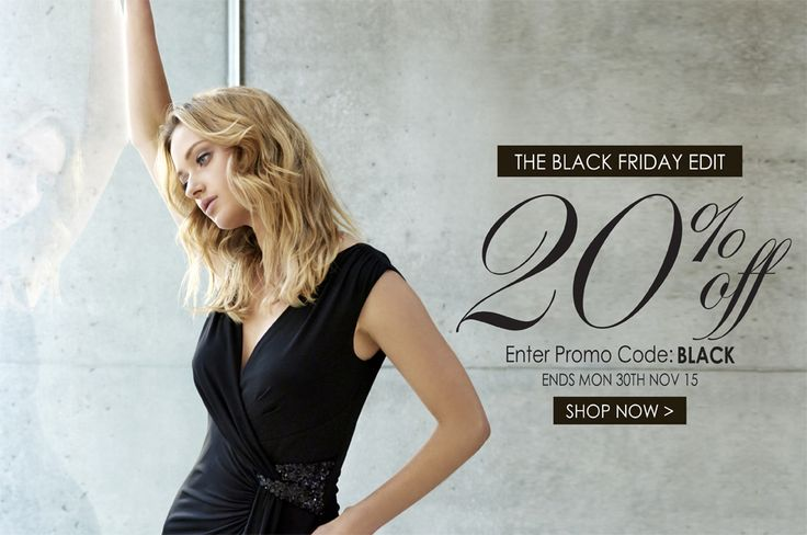 Our Black Friday sale has started! Take 20% off the edit now with promo code BLACK - hurry ends Mon 30th Nov 2015 x