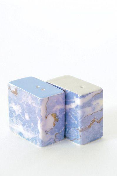 Marbled Salt and Pepper Shakers - Blue World