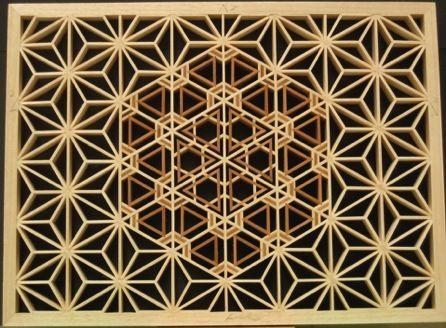 Pattern piece with yuki-gata and kaza-guruma patterns