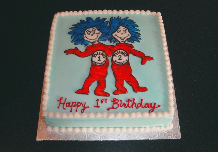 St Birthday Cake For Twin Brothers