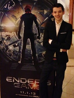 Asa Butterfield at CinemaCon. #EndersGame