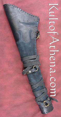Rangers Leather Quiver - Black