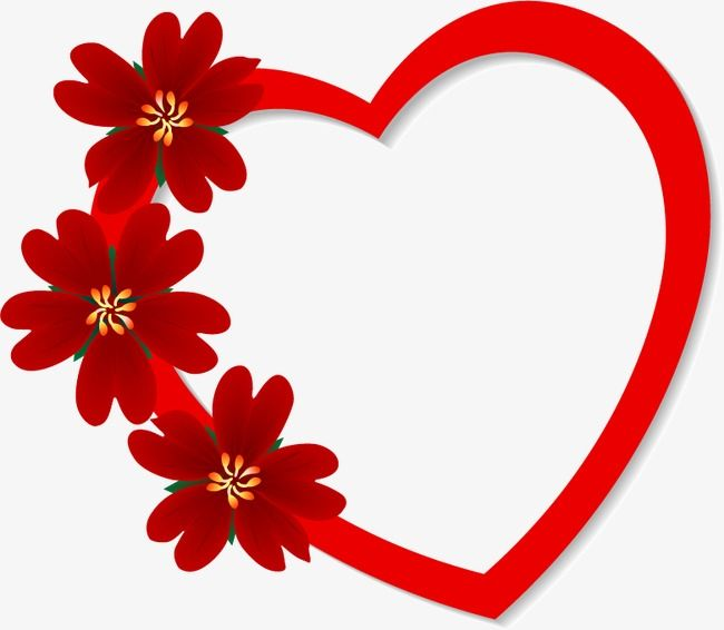 Romantic Valentine S Day Heart Flowers Heart Vector Romantic Valentine S Day Png Transparent Clipart Image And Psd File For Free Download Flower Heart Flower Frame Picture Frames Online