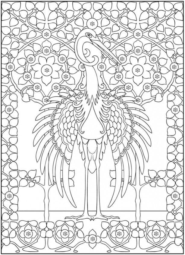 mooie kleurplaat met vogel kleurplaten mandala