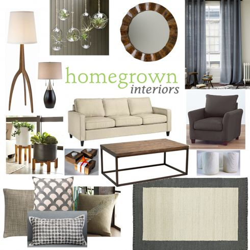 nature inspired living room mood board