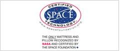 TEMPUR on ainoa patja- ja tyynybrändi, jolla on laillinen oikeus käyttää US Space Foundationin eli NASAN virallista Certified Technology -leimaa.