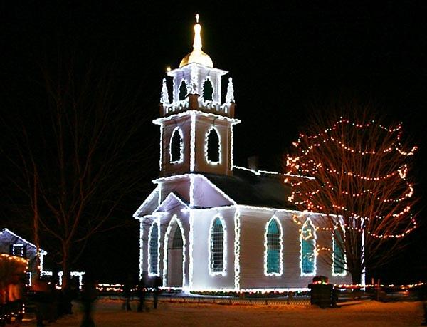 A Light at Night Festival at Upper Canada Village near Morrisburg, Ontario.